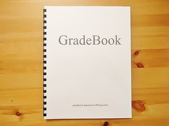 Gradebook (4 Subjects) FREE SHIPPING WITHIN US