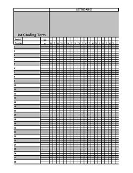 Gradebook, Attendance, Contact Log