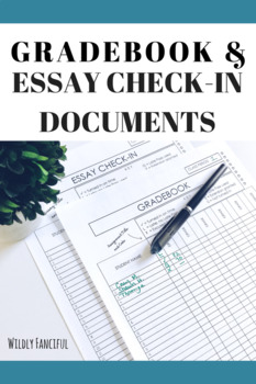 Gradebook and Essay Check-in Templates with Coding System