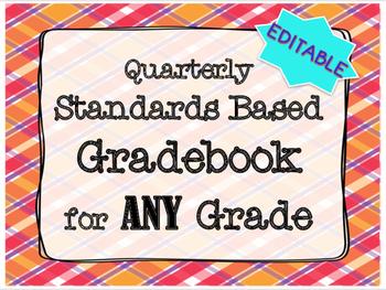 Gradebook EDITABLE Standards Based ANY Grade