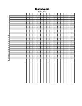 Gradebook - Editable Excel File