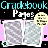 Editable Gradebook Pages & Class Roster - Happy Planner or Disc Planner