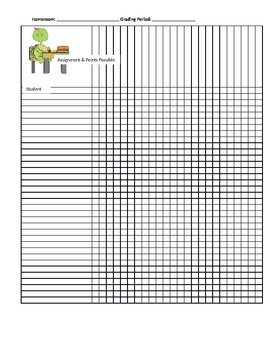 Gradebook Record Sheet