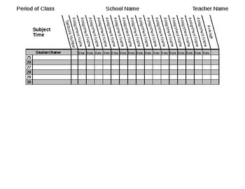 Gradebook/Roster/Attendance Record