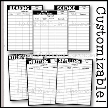Gradebook Set EDITABLE!