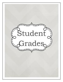 Gradebook- Shades of Gray (2 color variations)