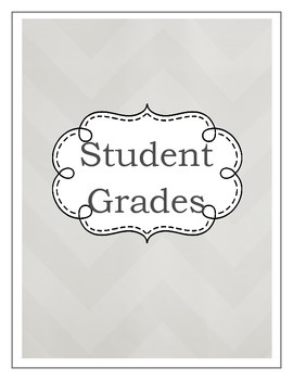Gradebook- Shades of Gray (2 color variations)