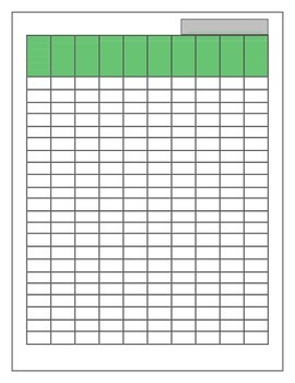 Gradebook- Shades of Green (2 color variations)