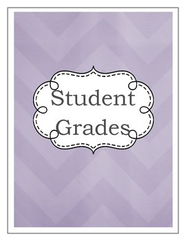 Gradebook- Shades of Purple (2 color variations)