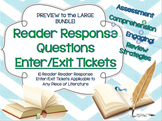 Exit Tickets-Reader Response Questions