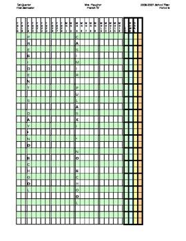 Gradebook Template - Customize to your needs