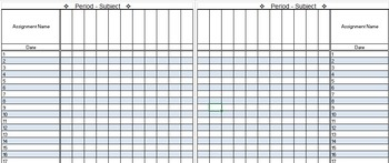 Gradebook Template - Editable
