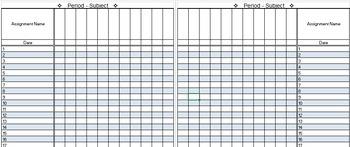 Gradebook Template - Editable