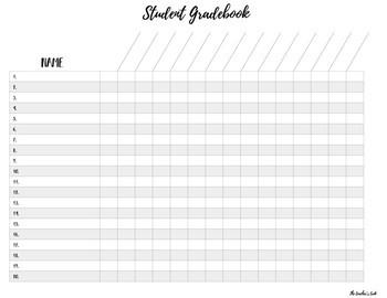 Gradebook Template Freebie