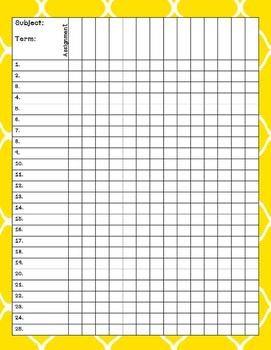 Gradebook or Record Book Pages Printables