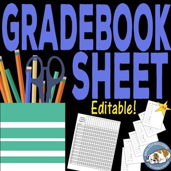 Gradebook sheet