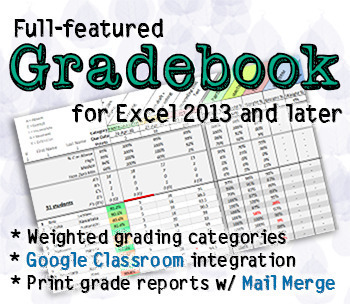 Gradebook w/ weighted categories