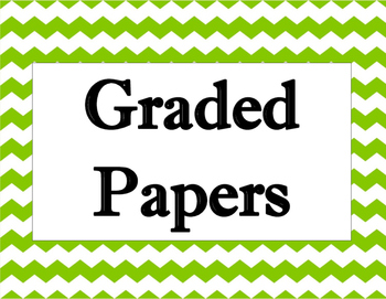 Graded Papers Chevron Sign