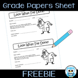 Graded Papers Sheet