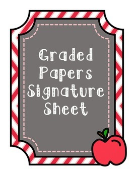 Graded Papers Signature Sheet