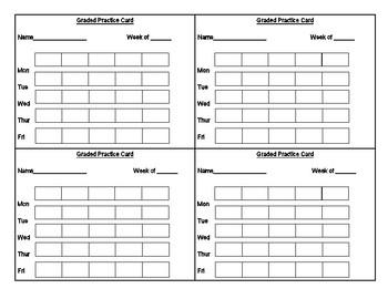Graded Practice Card Template