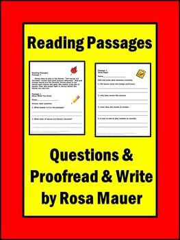 Reading Comprehension Passages