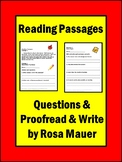 Reading Comprehension Passages and Questions Distance Lear
