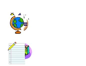 Graded Work Folder Signs