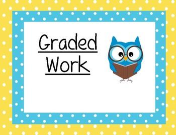 Graded Work Sign Printable