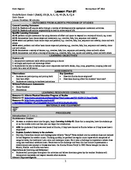 Grades 1-12 Zumba Lesson Plans (4)