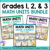 Grades 1, 2 & 3 Math Units Bundle (2020 Ontario Curriculum)