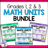 Grades 1, 2 & 3 Math Units Bundle