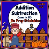 Addition and Subtraction within 20 {Fall}