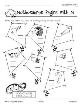 Grades 1-2 Language Arts Unit 1: Prehistoric Pals Consonants