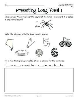 Grades 1-2 Language Arts Unit 3: Long Vowel Sounds
