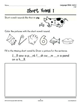 Grades 1-2 Language Arts Unit 4: Short Vowel Sounds