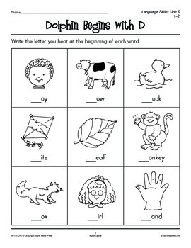 Grades 1-2 Language Arts Unit 6: Initial and Final Consonant Sounds