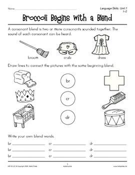 Grades 1-2 Language Arts Unit 7: Initial Consonant Blends
