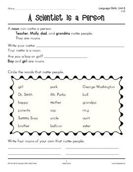 Grades 1-2 Language Arts Unit 8: Nouns