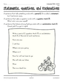 Grades 1-2 Language Arts Unit 9: Capitalization and Punctuation