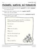 Grades 1-2 Language Arts Unit 9: Capitalization and Punctuation