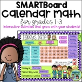 Math Calendar/Calendar Math for SmartBoard: Grades 1-3 Common Core-Aligned