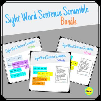 Grades 1-3 Sentence Scramble Bundle
