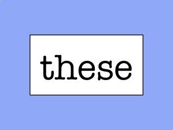 Grades 1-3 Words Wall - No Excuse/Sight Word Bundle
