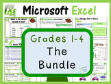 Grades 1- 4: Microsoft Excel The Lesson Plans Bundle