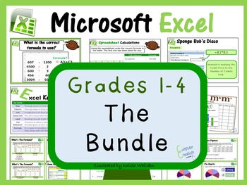 Grades 1- 4: Microsoft Excel The Bundle (ISTE 2016 Aligned)