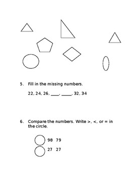Grades 1-5 Beginning of the Year Math Pre-Assessments w/ Answer Key [Editable]