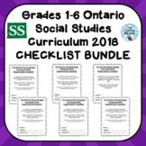 Grades 1-6 ONTARIO SOCIAL STUDIES CURRICULUM 2018 EXPECTAT