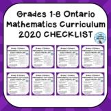 Grades 1-8 ONTARIO MATHEMATICS CURRICULUM 2020 EXPECTATION