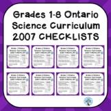 Grades 1-8 ONTARIO SCIENCE CURRICULUM 2007 CHECKLISTS BUNDLE
